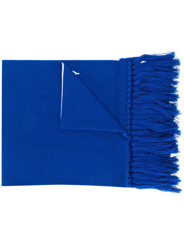 Givenchy logo knit scarf - Blue
