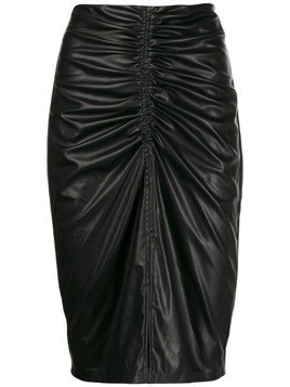 8pm leather look pencil skirt - Black