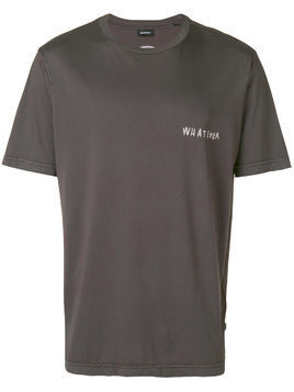 Diesel Whatever print T-shirt - Grey