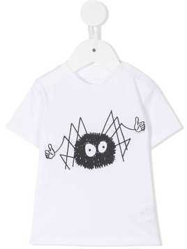 Stella Mccartney Kids spider print T-shirt - White