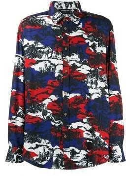 Mauna Kea printed long-sleeved shirt - Blue
