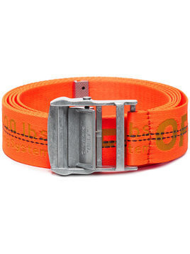Off-White - Industrial logo belt - Herren - Polyester - One Size - Yellow & Orange