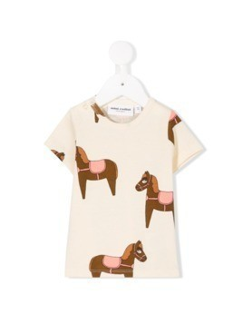 Mini Rodini horse print T-shirt - White