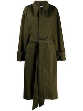AMI oversized belted trench coat - Green