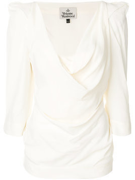 Vivienne Westwood structured shoulder blouse - Neutrals