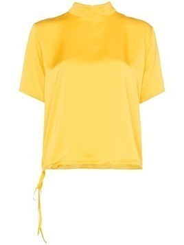 Mira Mikati pom pom detail top - Yellow
