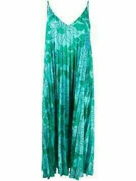 Christian Wijnants floral pleated dress - Green