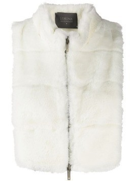 Lorena Antoniazzi shearling zip-up gilet - White