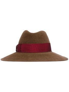 Borsalino strap fedora hat - Brown