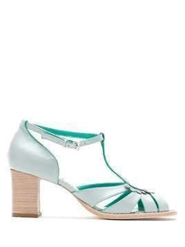 Sarah Chofakian leather sandals - Blue