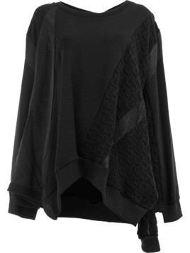Koché cable knit detail sweatshirt - Black