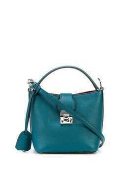 Mark Cross Murphy mini bucket bag - Blue