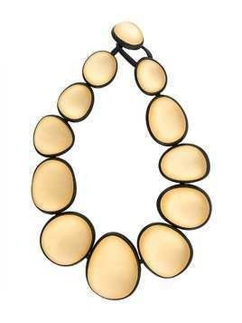 Monies two-tone oversized bead necklace - Gold
