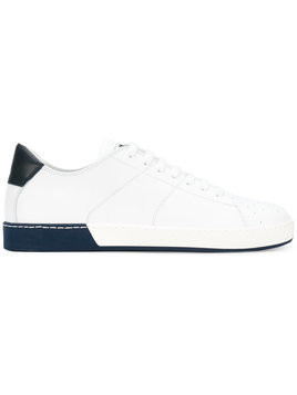 Jil Sander - panel contrast low top sneakers - Herren - Leather/rubber - 45 - White