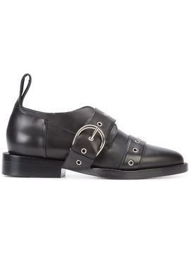 Paco Rabanne buckled brogues - Black
