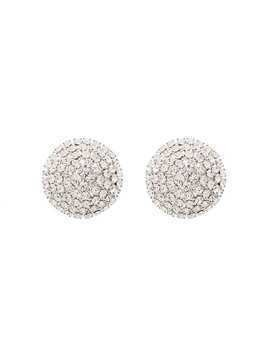 Alessandra Rich embellished circle earrings - Metallic