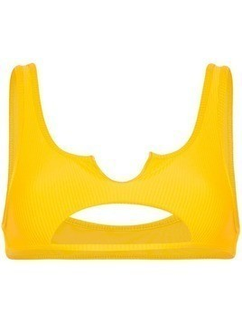 Frankies Bikinis Cole cut-out bikini top - Yellow