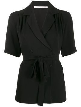 Emilia Wickstead double-breasted wrap blouse - Black