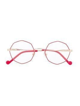Liu Jo Kids octagon-frame glasses - GOLD