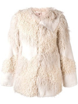 Twin-Set faux fur patch jacket - White