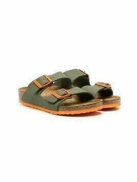 Birkenstock Kids Arizona double-strap sandals - Green