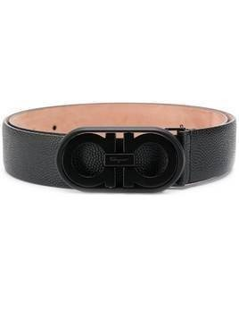 Salvatore Ferragamo logo buckle belt - Black
