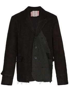By Walid cut-and-sew single-breasted blazer - Black