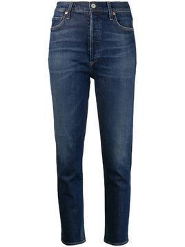 Citizens Of Humanity Olivia high-rise cropped jeans - Blue
