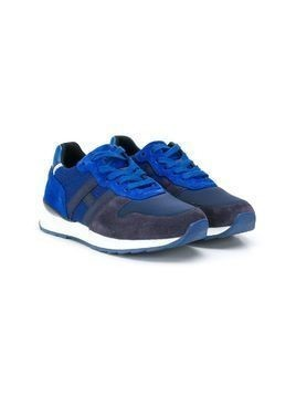 Hogan Kids textured colour block sneakers - Blue