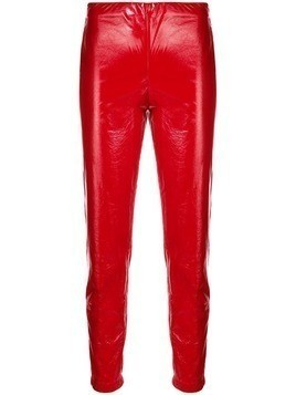Federica Tosi vinyl skinny trousers - Red