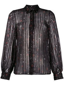 LIU JO floral print sheer shirt - Black