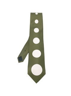 Thierry Mugler Vintage dot print tie - Green