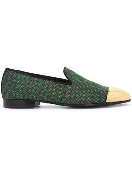 Louis Leeman high shine trim loafers - Green