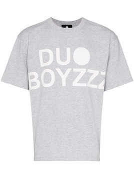 Duo logo printed T-shirt - Grey