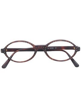 Missoni Pre-Owned studded oval shaped glasses - Brown