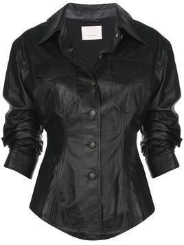 Cinq A Sept Canyon scrunched jacket - Black