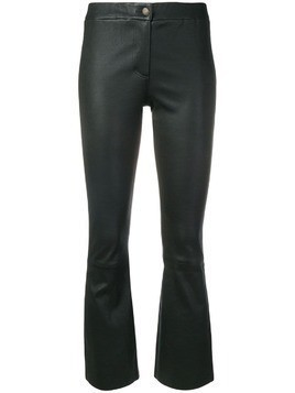 Arma cropped leather trousers - Black