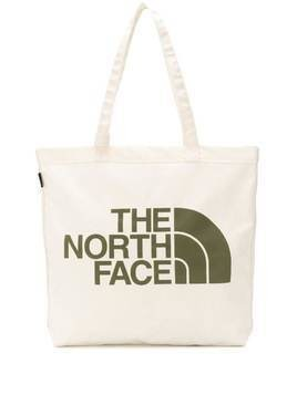 The North Face logo print canvas tote - NEUTRALS