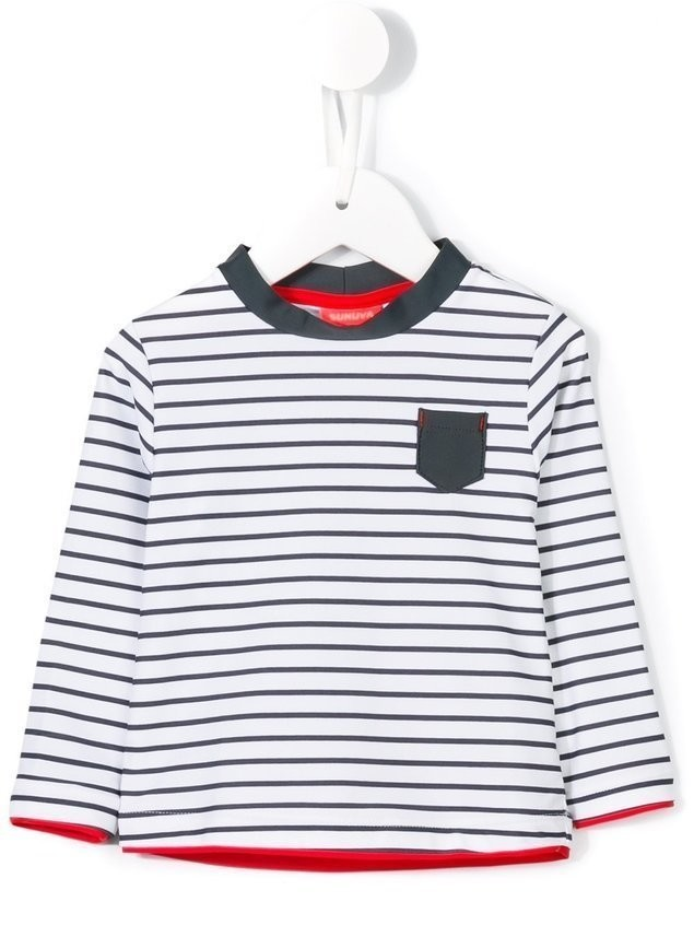Sunuva striped long sleeved T-shirt - White