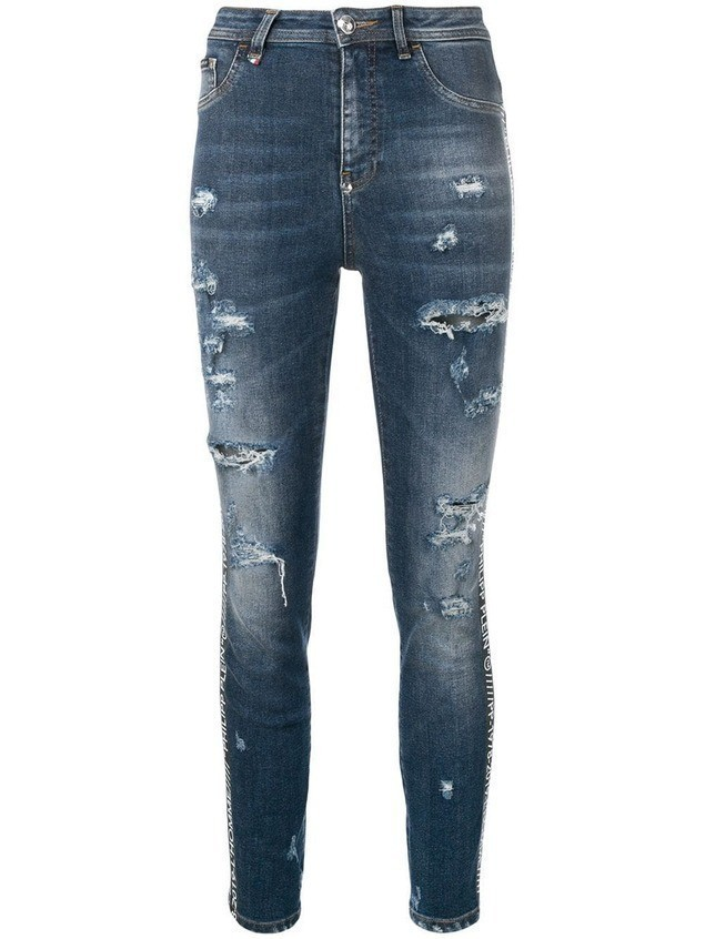 Philipp Plein super high waist jeans - Blue