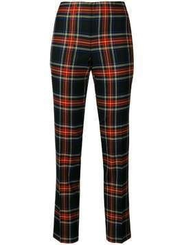 P.A.R.O.S.H. checked straight trousers - Multicolour