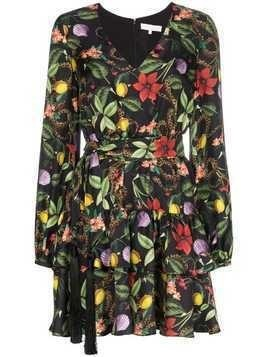 Borgo De Nor floral print tiered mini dress - MULTICOLOURED