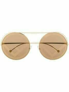 Fendi Eyewear Run Away logo sunglasses - GOLD