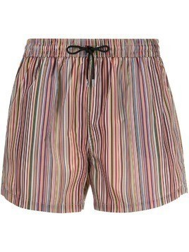 PS Paul Smith striped drawstring shorts - Red