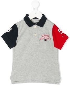 Tommy Hilfiger Junior colour block polo top - Grey