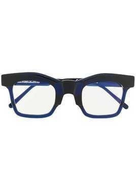 Kuboraum oversized square glasses - Blue