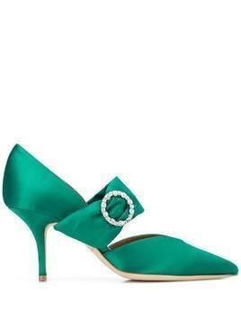 Malone Souliers Maite crystal embellished pumps - Green