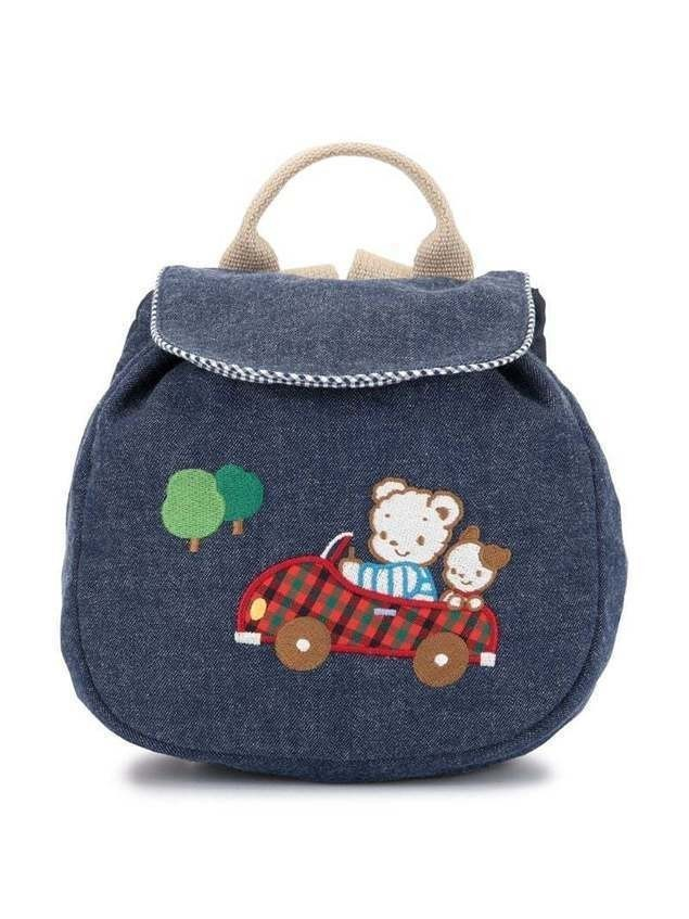 Familiar bear patch backpack - Blue