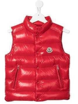 Moncler Enfant padded down gilet - Red