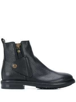 AGL button over ankle boots - Black